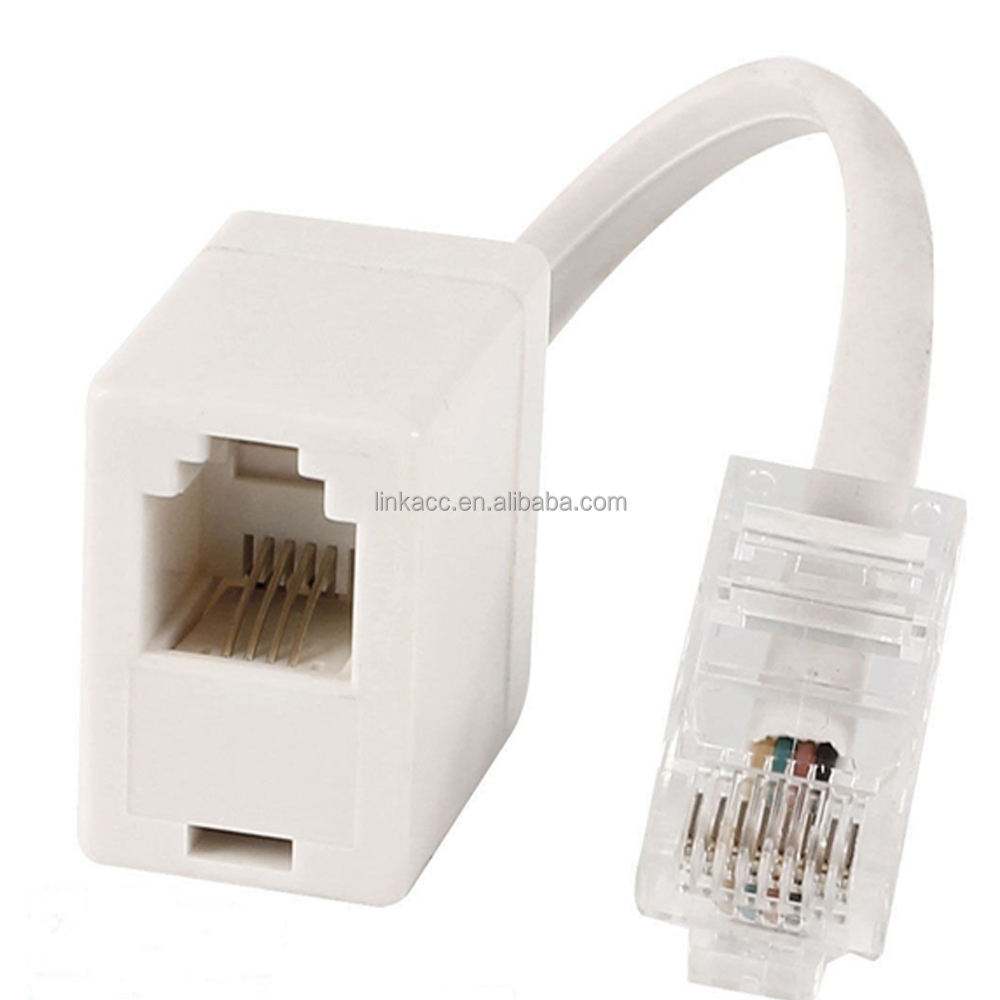 RJ11 6P4C Female To Ethernet RJ45 8P8C Male F//M Adapter Converter Cable//Phone ME