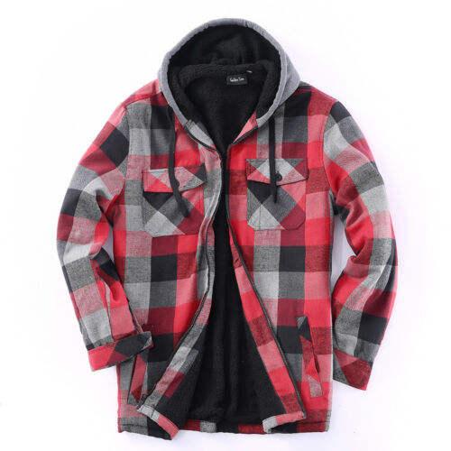 XINHE Mens Classic Plaid Button Causal Long Sleeve Flannel Shirt