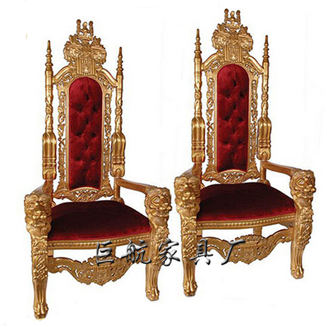 Hot sale king throne chair rental for wedding ceremony