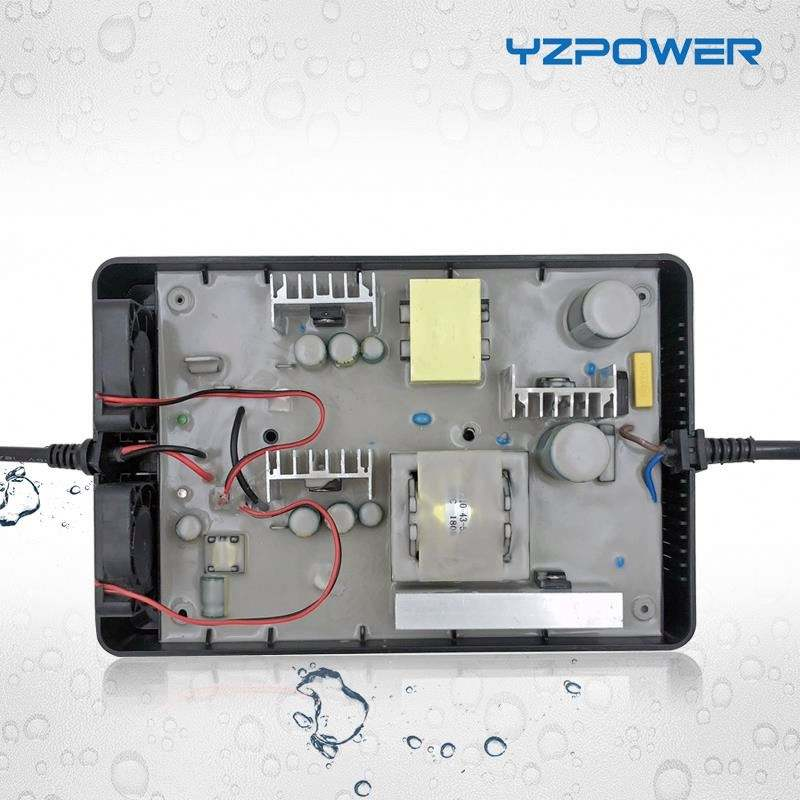 YZPOWER Waterproof 29V 10A Electric Car Battery Charger For 2s 24V Lead Acid Battery Chargers