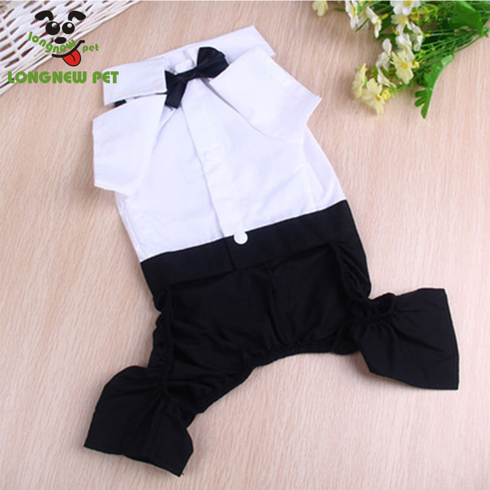 Wholesale Dog Supplies Cotton Black Dog Suit Apparel With Bowknot