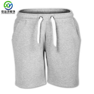 China factory custom mens 100% cotton elastic jogger sports running shorts wholesale blank sweat golf shorts with custom logo