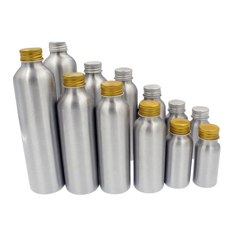 empty round 30ml 50ml 100ml 120ml 150ml 250ml 500ml silver Aluminum bottle with screw cap
