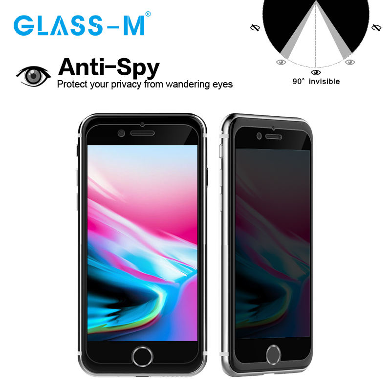 New Premium Anti Spy Protezione Dello Schermo Del Telefono Mobile per il iphone 8 Privacy Glass