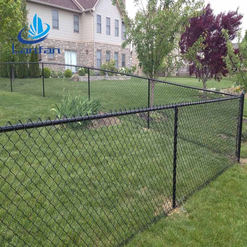 Top sale popular 6ft galvanized and plastic coated decorative chain link fence and nails for garden