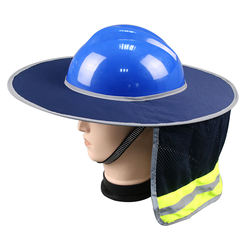 Hard Hat Sun Neck Shield Full Brim Sunshade for Hard Hat,Reflective,Full Brim Mesh Sun Shade Protector