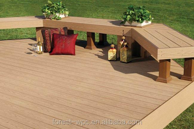 La nueva tecnología de 12 colores para las opciones madera al aire libre decking compuesto plástico