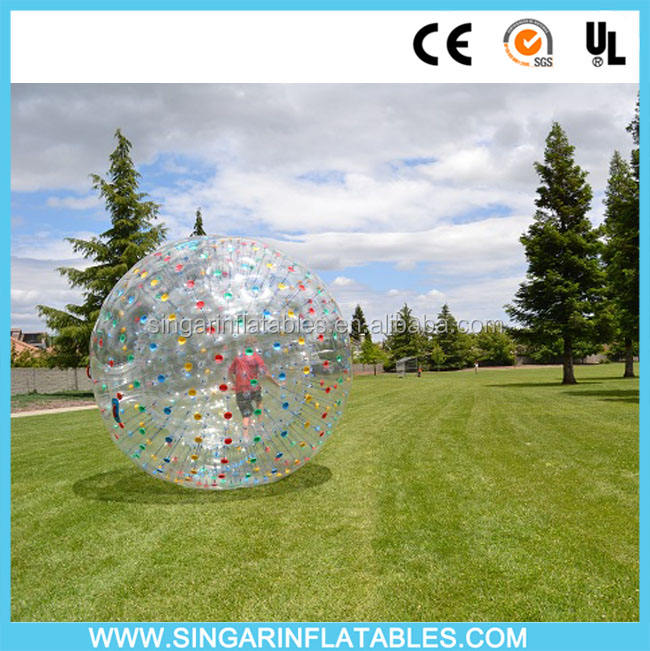 Giant inflatable zorb ball human hamster ball grass zorbing ball for sale