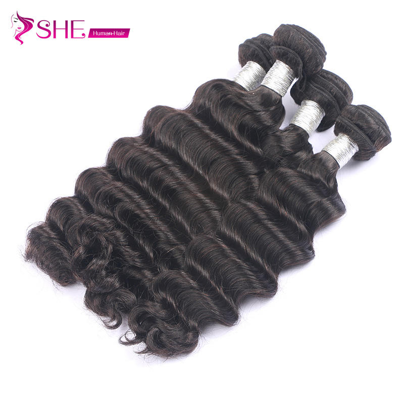 Ishe has variety of styles Brazilian hair weft loose deep curly cuticle aligned hair weave extensions Exotic wave for black