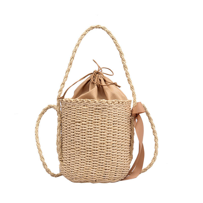 2019 china online shopping handbags for women Women's Fashion Handmade Bamboo Handbag Summer Beach Sea Tote Straw Bag 2019