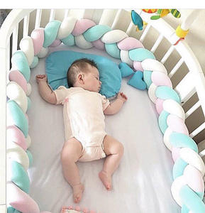 Soft Snake Pillow Long Protector Baby Bed Sleep Braided Bumper