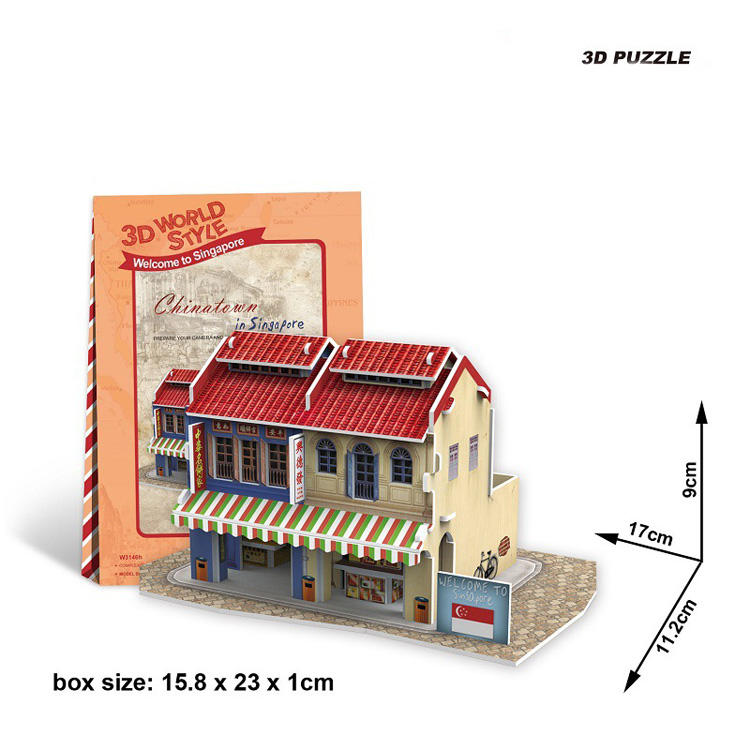 3D Cubic Fun Puzzle Architecture Miniature Puzzle Wholesale