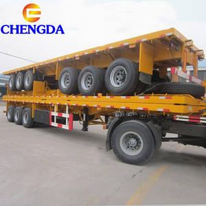 Giá rẻ Giá 40 Tấn 2 Trục 20ft Container Chassis 3 Trục 40ft Phẳng Giường Cổ Ngỗng Skeleton Xe Tải Phẳng Trailer