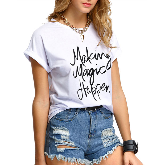 design your own t shirt custom printed white t shirt women