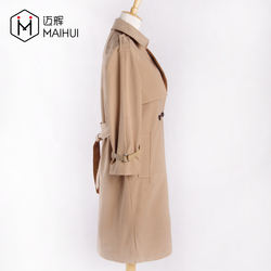 New Arrival Ladies Top Quality PU Belt Coats Women Fashion Trench Coat