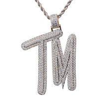 "Custom Iced Out combine letters says ""TM"" Pendant For Man"