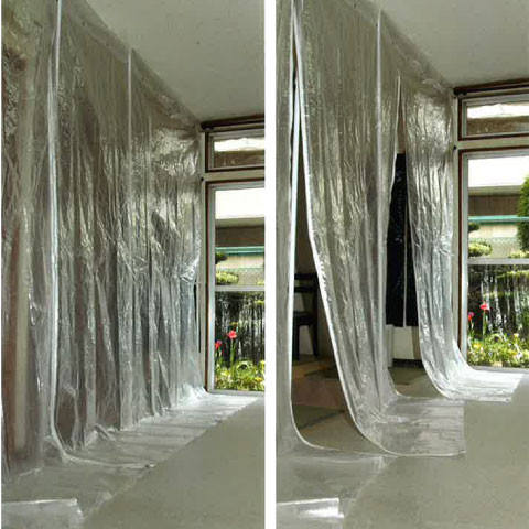 Convenient and Easy to use overspray paint masking cover sheet for reforming construction, interior work, painting and etc