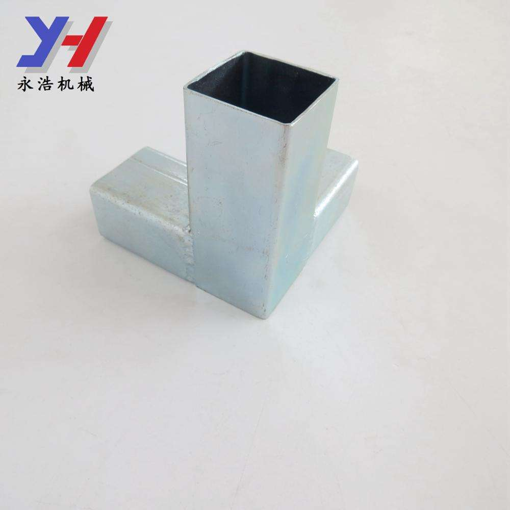 Factory custom aluminum square tube joint connector for copper connecting pipe rods