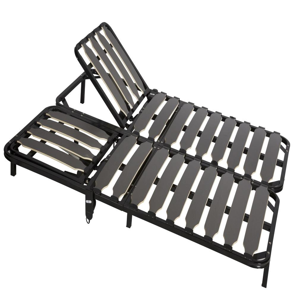 wood slatted cot bed DJ-PW45 adjustable metal bed frame