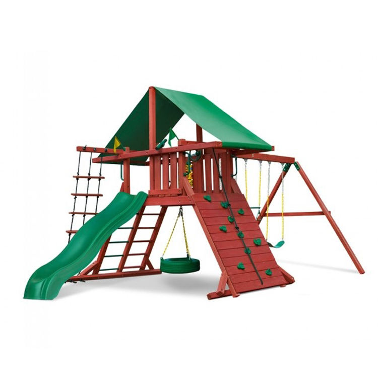 Patio Houten Klimrek Play Set Met Plastic Dia Outdoor Speeltuin
