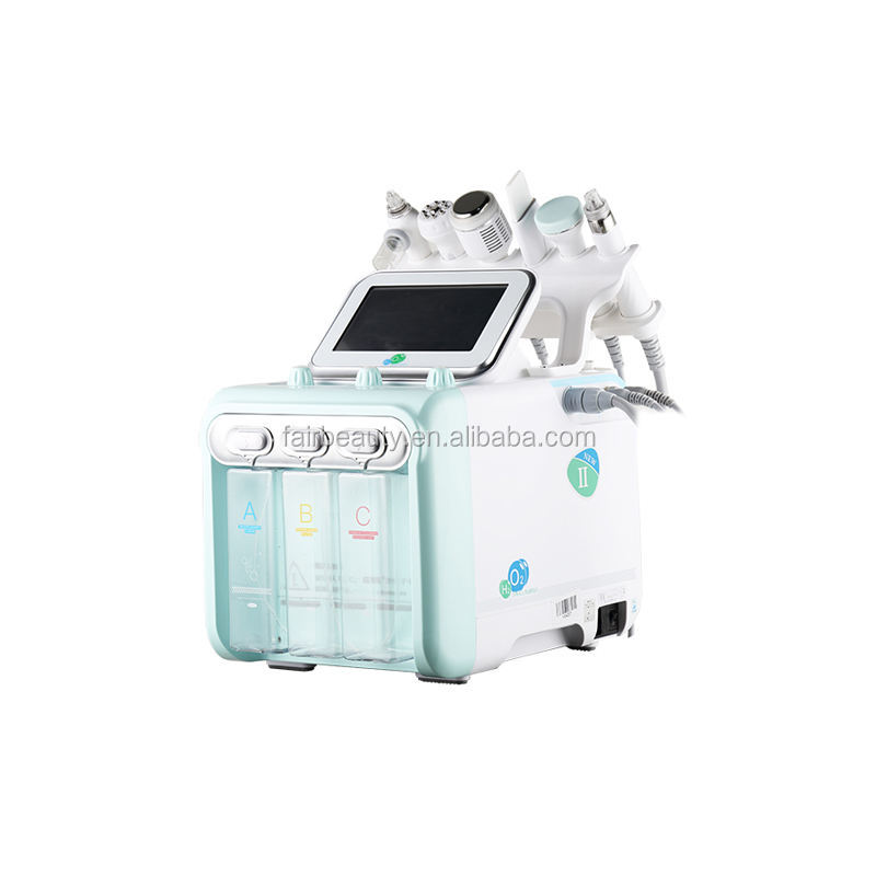 Fair 6 In 1 H2 water oxygen jet peel skin management Aqua Peeling small bubble Facial Machines beauty equipment
