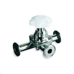 Manual 3 way diaphragm valve pneumatic diaphragm valve