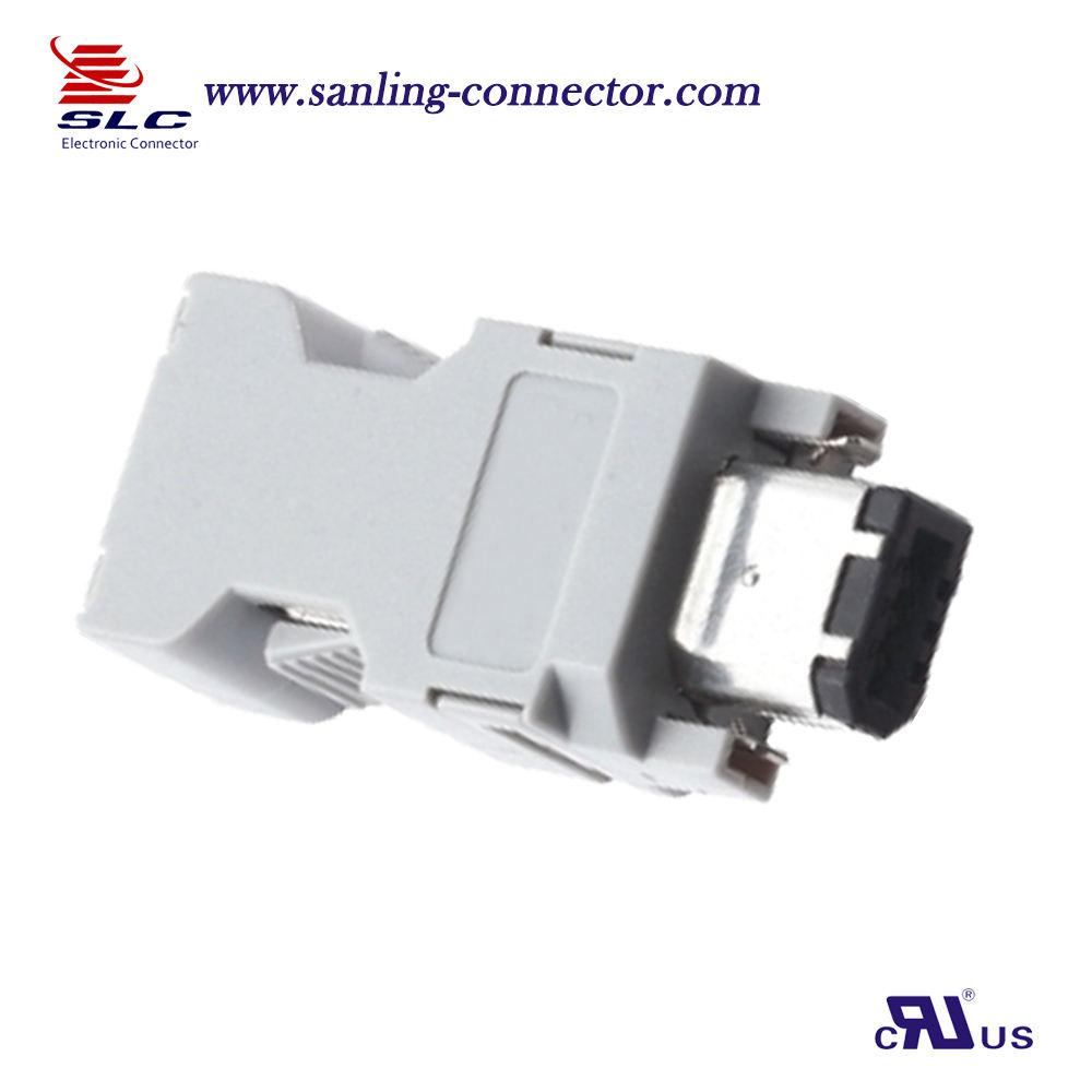SM 6P Solder Type IEEE 1394 SCSI Connector