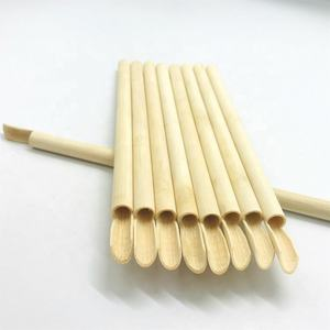 Factory Directly Sales Organic Bamboo Spoon Straw For Party 100% Natural Bamboo Spoon Straw Ice Cream