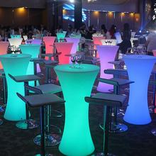 High quality led rechargeable bar table,led wedding table for indoor and outdoor