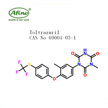 pharmaceutical ingredient  Toltrazuril 99% CAS 69004-03-1