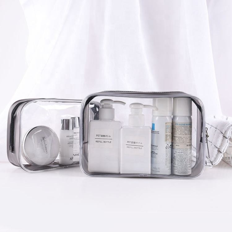 2020 TSA Approved Clear Toiletry Bag Women Makeup Bag Transparent With Zipper Travel Luggage Carry On Airline Compliant Bag