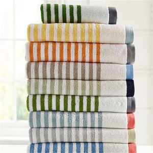 500gsm Thick Stripe Yarn Dyed Cotton Bath Towel