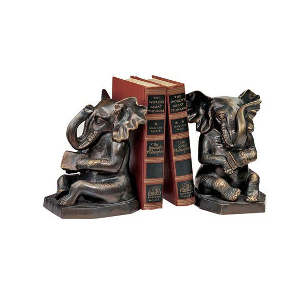 Resina antigo China atacado Elefante Bookends