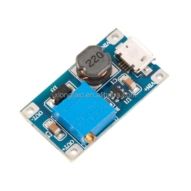 Micro USB DC-DC Step-Up Power Module 2A Booster