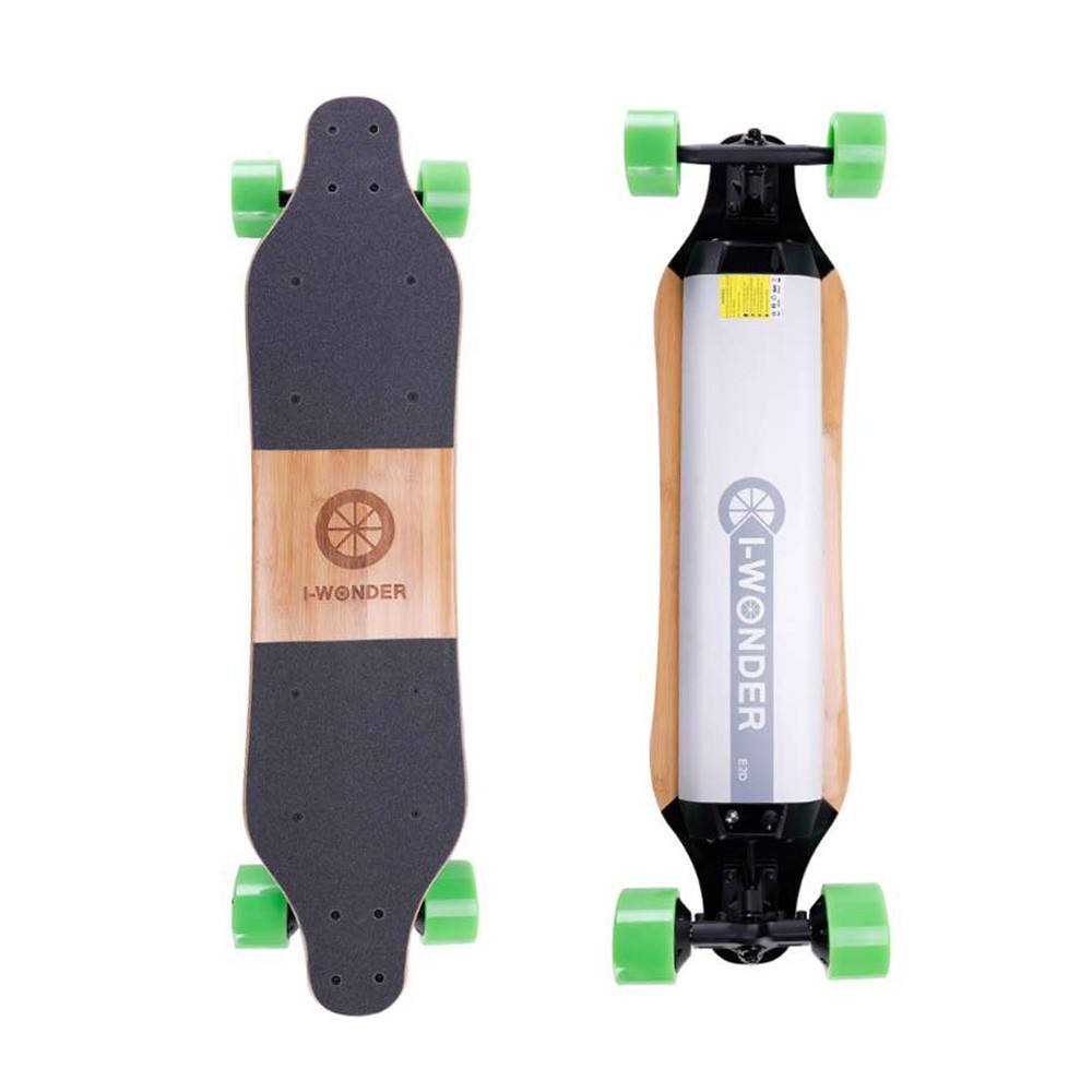 SK-E2 I-Wonder Led light custom electric skateboard dual hub motors in-wheel electric longboard boosted board