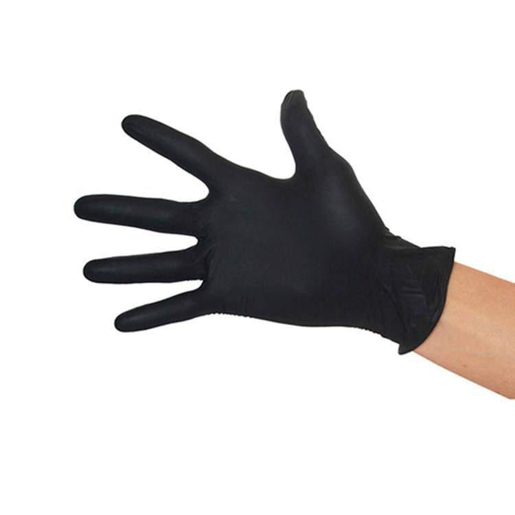 Best selling Good Quality food grade black disposable nitrile gloves for cooking