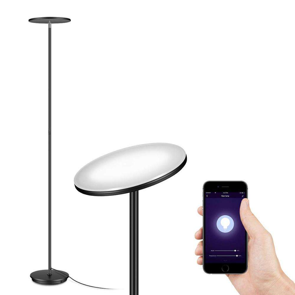 Decorative Wifi Smart Uplight led Dimmable Floor lamps Torchiere Floor Lamp