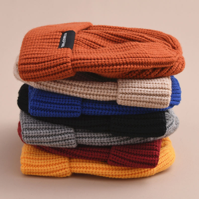 Small MOQ Outdoor Fisherman Slouchy Running Winter Cap Custom Knitted Ribbed Beanie Hat