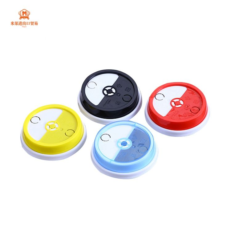 custom high quality newly design food grade disposable rotary cover lids