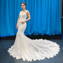 RSM66582 Bridal mermaid wedding dress suzhou love season luxury lace 2019 new super fairy wedding gowns