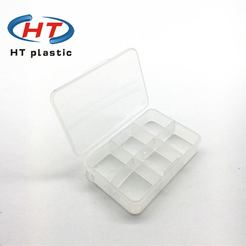 Hot Seller Small Medical Clear pill box Plastic /6 compartments pill box