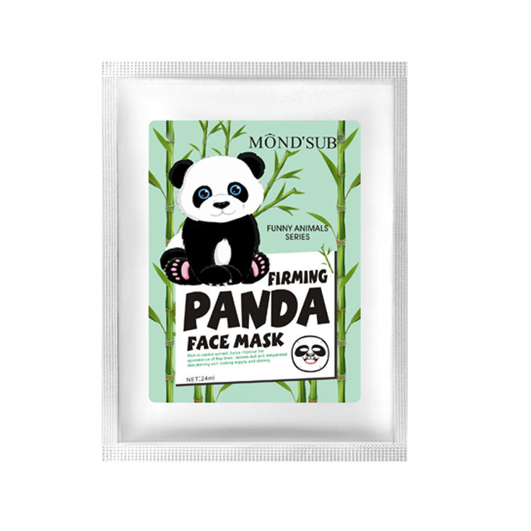 Oem Private Label Animais Frinted Animal Aquático Lontra Pele Face Pack Máscara de Clareamento De Seda Folha