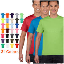 2019 high quality cotton round neck OEM logo men t shirts blank plain t-shirts