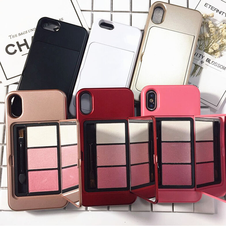 Fashion with Mirror Real Makeup Phone Case Cover for iPhone Models