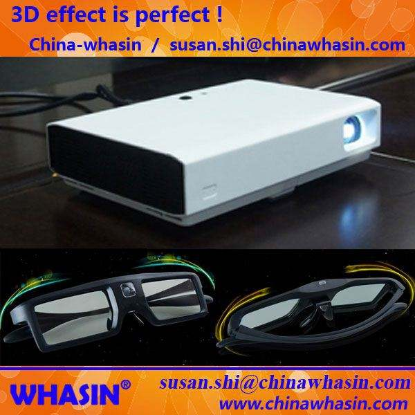 New 1280*800 Hi-Sound System HD 3D Ready Home Cinema Energy Saving HDMI DLP Mini Projector