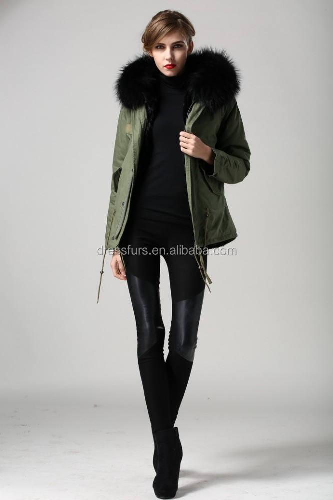 2015 di alta moda donna in alto unisex parka qualità corto nero giacche in pelliccia del faux