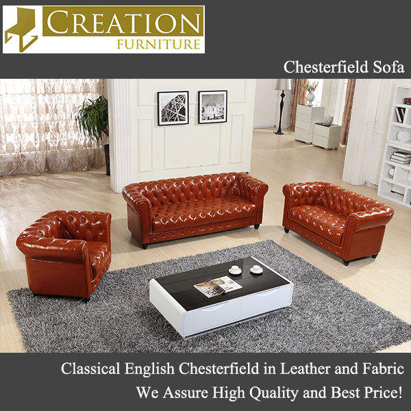 Classic Chesterfield Leather Sofa