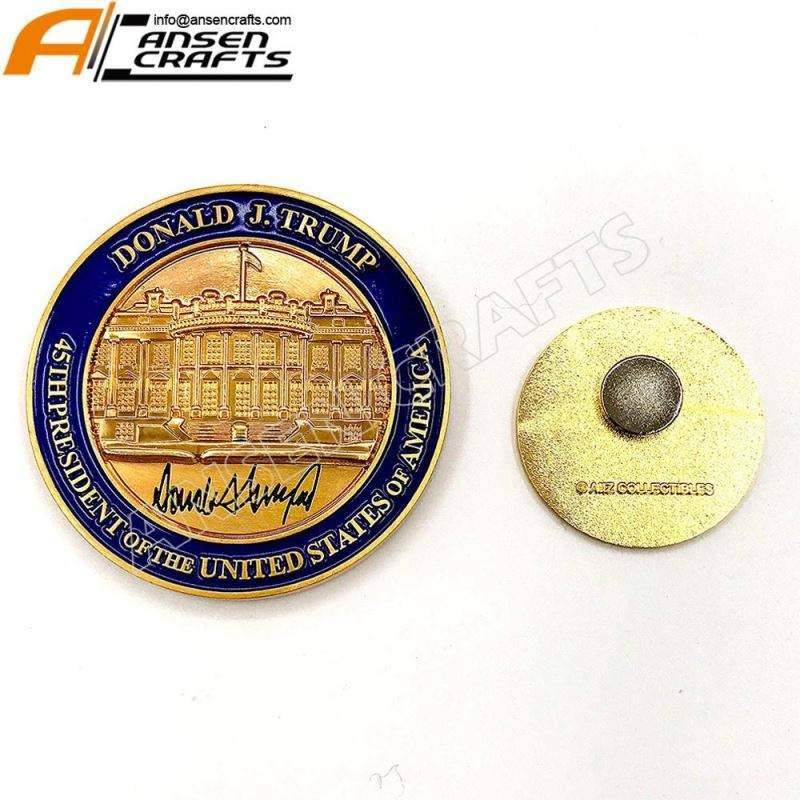 MAGA Presidential Coin Donald Trump 45th President of The United States of America Commemorative Challenge Coin hat Gold S Kingze