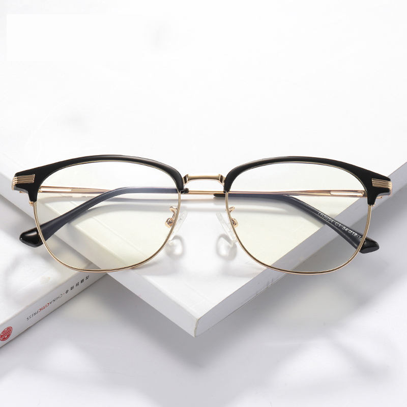 Made In China TR90 Optical Glasses Unisex Fahion Half Rim Eyeglasses Frame