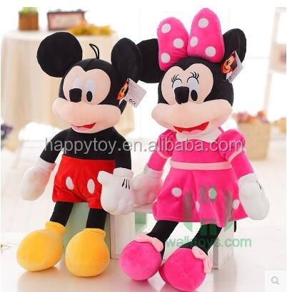 Plush toy soft for kids Mickey &Minnie mouse plush stuffed toy guangzhou factory custom design